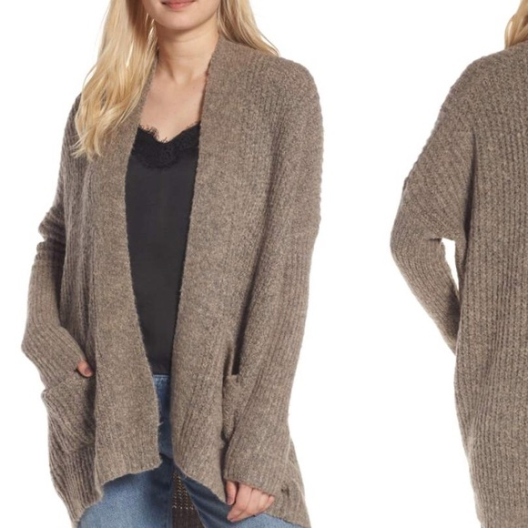 830a9ed536 DREAMERS BY DEBUT Sweaters - Rib Knit Open Cardigan - DREAMERS BY DEBUT  Brand